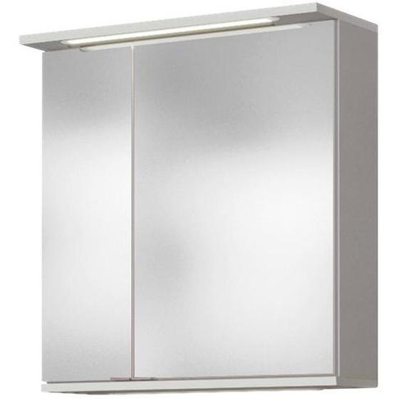 Xora Spiegelschrank Weiß , Holzwerkstoff , Nachbildung , 60x67x20 cm