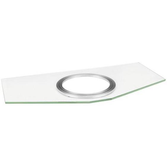 Xora Tv-Drehplatte Metall, Glas Weiß, Grau , 82x5x42 cm