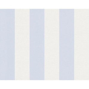 : Vliestapete, Blau, Weiß, B/H 53 1005