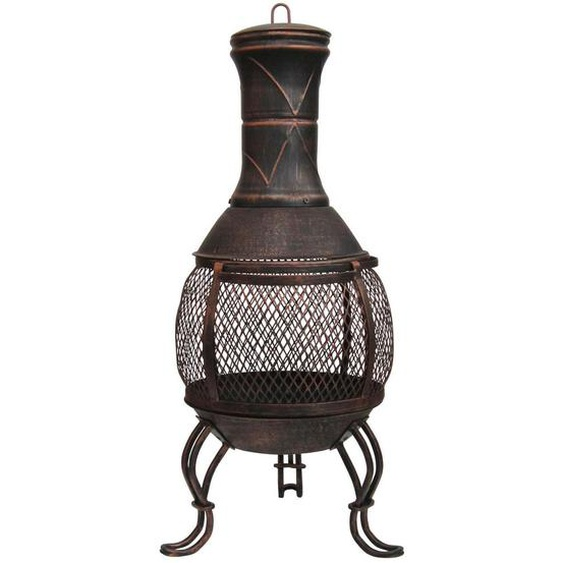 XXXLutz Feuerstelle , Braun , Metall , 45x88 cm