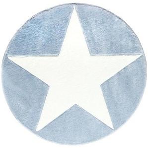 : Kinderteppich, Textil, Blau, Weiß