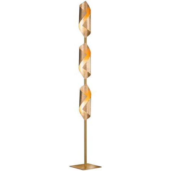 Wofi Led-Stehleuchte , Gold , Metall, Kunststoff , 142 cm