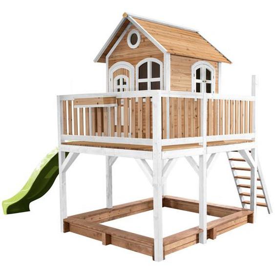 XXXLutz Spielturm , Weiß , Holz , Zeder , 613x291x277 cm