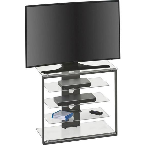 Tv-Element Anthrazit , Glas , 3 Fächer , 79x65.6x40 cm , Wohnzimmer, TV Möbel, TV-Elemente