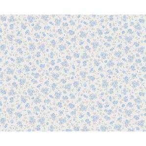 : Vliestapete, Blau, Creme, B/H 53 1005