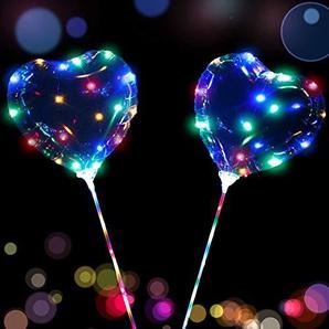 Yalatan LED Multicolor Bobo Balloon Lights wiederverwendbare Lampen Dekorationen Kinder Spielzeug Hochzeit Dekoration Luminous String Lights (B(5pcs))