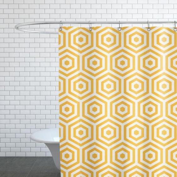 Yellow Beehive - Duschvorhang