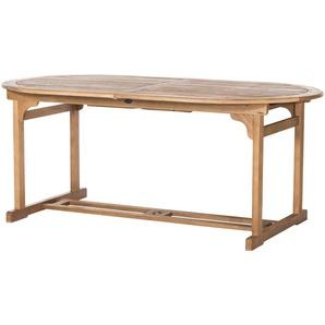 Yorkshire Gartentisch, ausziehbar  Holstein A ¦ holzfarben ¦ Eukalyptus ¦ Maße (cm): B: 100 H: 75