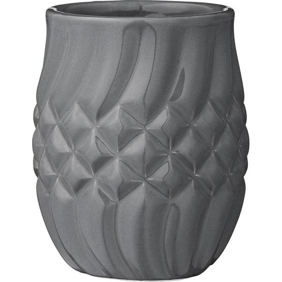 Zahnputzbecher, grau, Material Keramik »Oliva«, Lene Bjerre