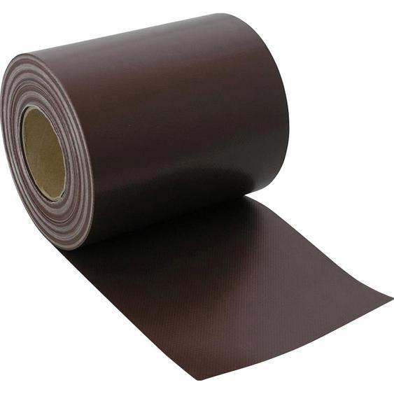 Zaunblende PVC blickdicht 19 cm x 3500 cm Mahagonibraun