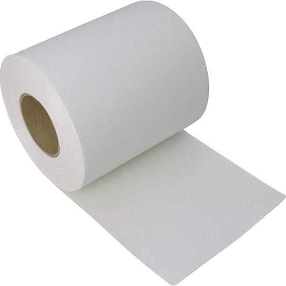 Zaunblende PVC blickdicht 19 cm x 3500 cm Weiß