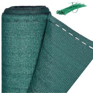 Zaunblende, Sichtschutz für Zaun & Balkongeländer, HDPE Gewebe, UV-stabilisiert, wetterfest, 1,2 x 50 m, grün - RELAXDAYS