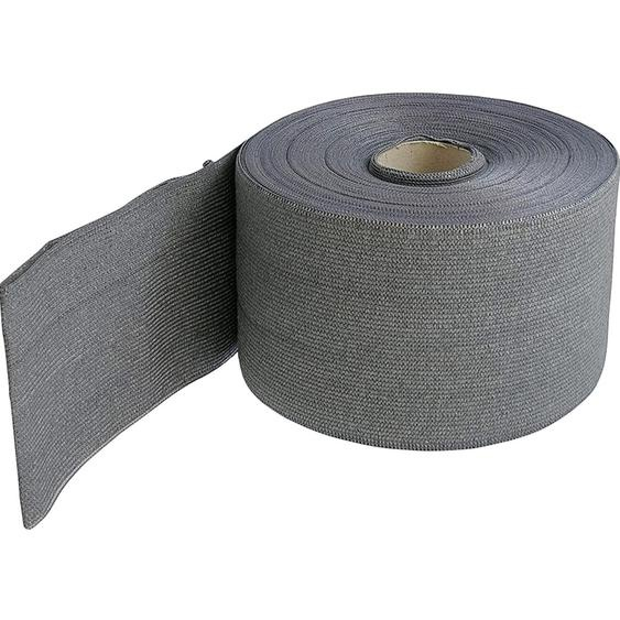 Zaunblende Textil 19 cm x 7000 cm Silber
