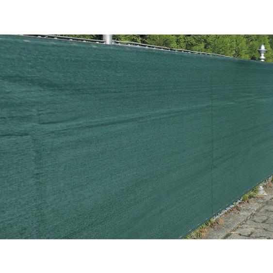 Zaunblende Winddurchlässig 1,5 m x 5 m Grün