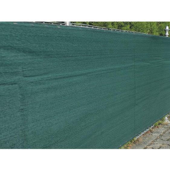 Zaunblende Winddurchlässig 1,8 m x 5 m Grün