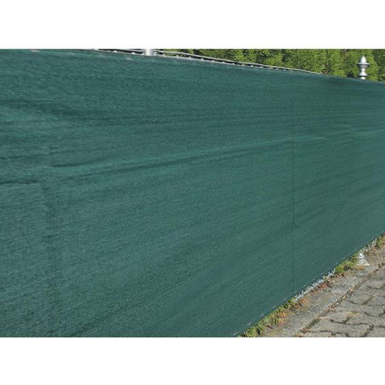 Zaunblende Winddurchlässig 1 m x 5 m Grün