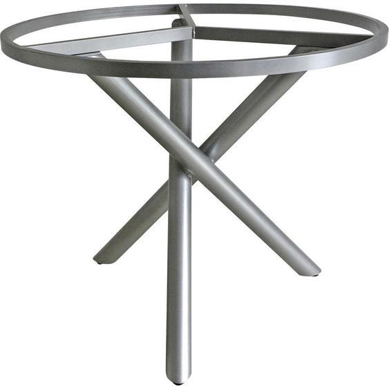 Zebra Süd Tischgestell Metall Grau , 90x74 cm