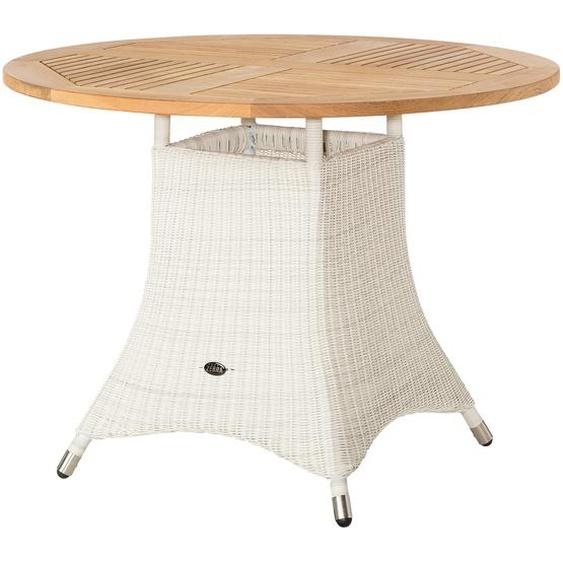 Zebra Tisch  Loomus - weiß - Aluminium pulverbeschichtet/ PE-Geflecht | Möbel Kraft