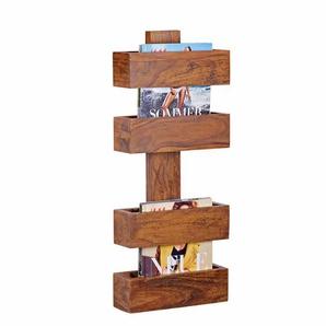 Zeitschriftenhalter aus Sheesham Massivholz 30 cm