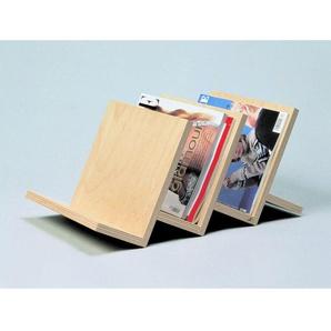 Zeitschriftenständer 3-fach aus Holz Zeitungsständer (ohne Deko)