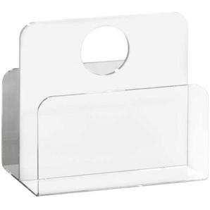 Zeitschriftenständer in Weiß Acrylglas