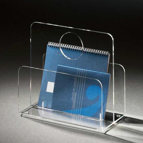 Zeitschriftenständer aus Acrylglas klar