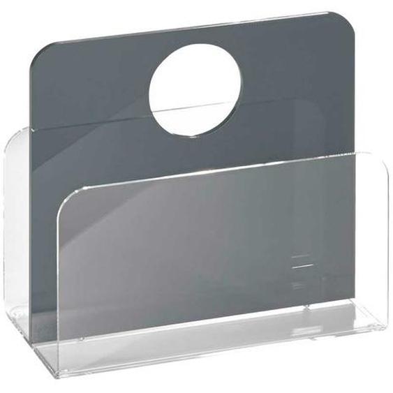 Zeitschriftenständer in Grau Acrylglas
