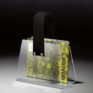 Zeitungshalter aus Acrylglas Weiß Tasche