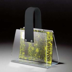 Zeitungskorb als Tasche Acrylglas Dunkelgrau