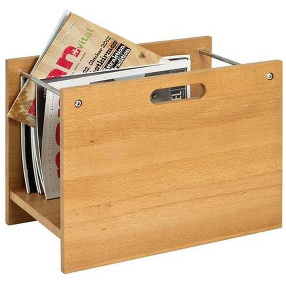 Zeitungskorb aus Buche Massivholz 40 cm breit