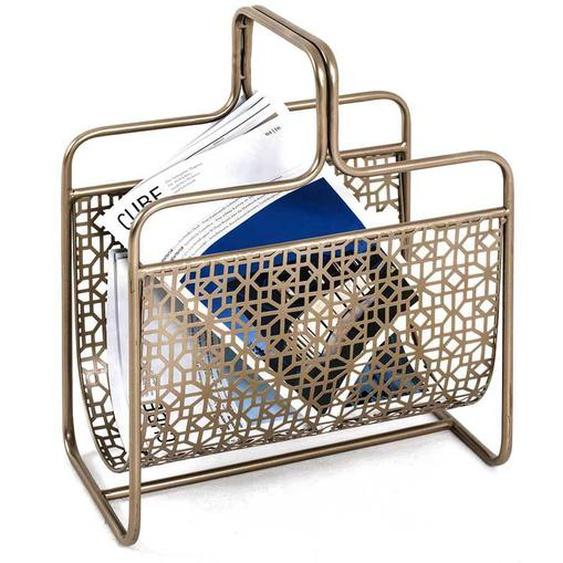 Zeitungskorb in Bronzefarben Stahl