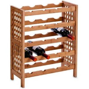Zeller 13566 Weinregal Flaschenregal Flaschenhalter Weinständer Holz
