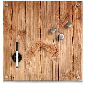 Glas-Magnettafel 40,0 x 40,0 cm Wood