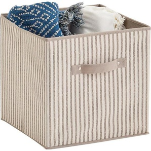 Zeller Present Aufbewahrungsbox »Stripes«, faltbar, Vlies, beige