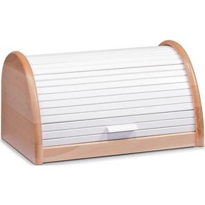 Zeller Present Brotkasten, (1 tlg.), Maße (L/B/H): 39 x 25 21 cm B/H/L: weiß Brotkasten Aufbewahrung Küchenhelfer Haushaltswaren