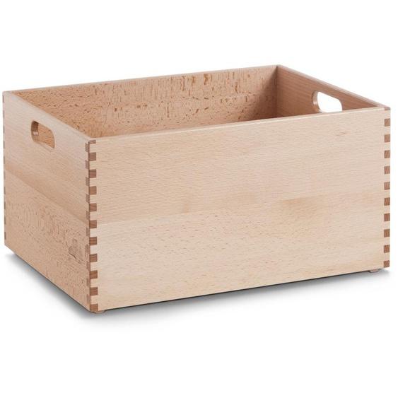 Zeller Present Holzkiste, für jeden Bedarf B/H/T: 40 cm x 21 30 beige Kisten Truhen, Körbe Schlafzimmer Holzkiste