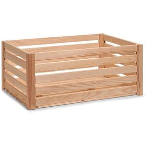 Zeller Present Holzkiste »Leisten«, hochwertiges Kieferholz