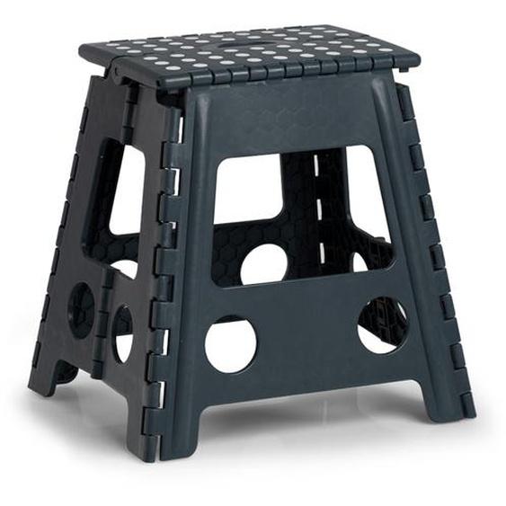Zeller Present Klappstuhl, Kunststoff, klappbar, Sitzhöhe 39 cm Einheitsgröße schwarz Klappstühle Weitere Stühle Sitzbänke Klappstuhl