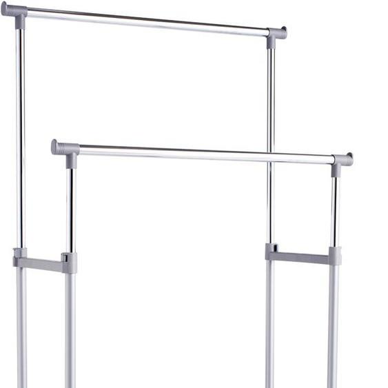 Zeller Present Kleiderständer 83x43x170 cm, höhenverstellbar silberfarben Kleinmöbel Garderobenständer