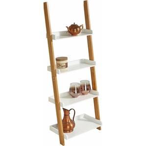 Zeller Leiter-Regal mit 4 Böden