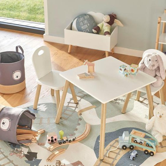 Zeller Present Sitzgruppe Scandi, (Set, 3 tlg.), für Kinder Einheitsgröße weiß Essgruppen Tische Sitzmöbel-Sets
