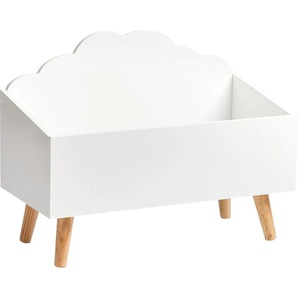Zeller Present Spielzeugtruhe Wolke 0, 58x28x45 cm weiß Truhen Kleinmöbel Aufbewahrungsboxen