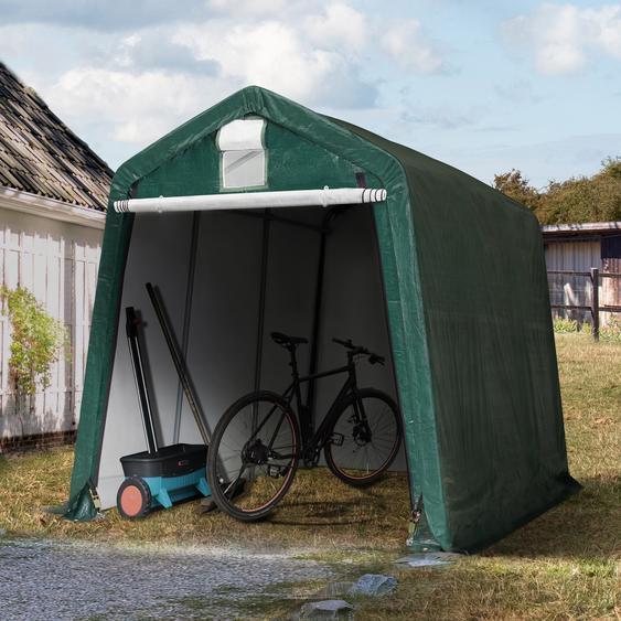Zeltgarage 2,4x3,6 m, PE 260g/m², dunkelgrün