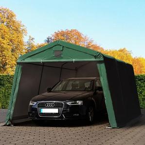 Zeltgarage 3,3x4,8m, PVC 500 g/m² dunkelgrün