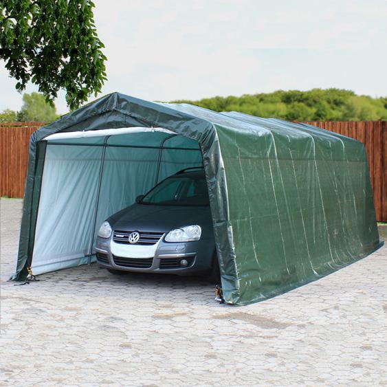 Zeltgarage 3,3x6,2 m, PE 260g/m², dunkelgrün
