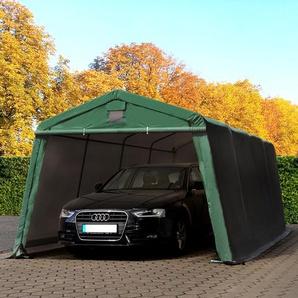 Zeltgarage 3,3x6,2m, PVC 500 g/m² dunkelgrün