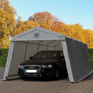 Zeltgarage 3,3x6,2m, PVC 500 g/m² grau