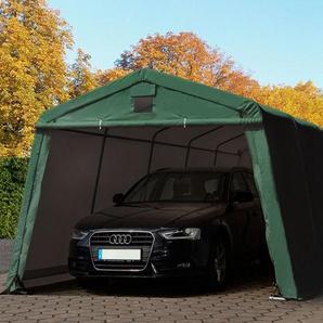 Zeltgarage 3,3x7,7m, PVC 500 g/m² dunkelgrün
