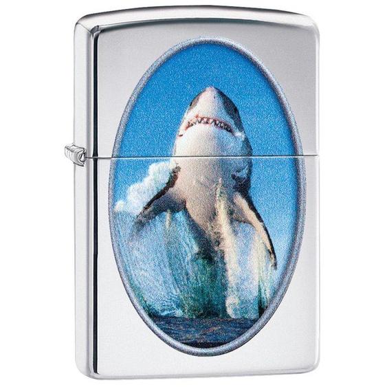 Zippo Feuerzeuge »Shark Breaching Design«, original Zippo