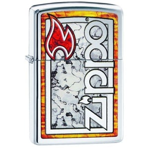 Zippo Feuerzeuge »Zippo Logo in Fuzion«, original Zippo